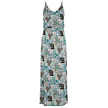 Buy Warehouse 80s Tile Print Maxi Dress, Multi Online at johnlewis.com
