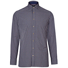 Buy Hackett London Winter Plaid Check Button-Down Shirt, Navy/Wine Online at johnlewis.com