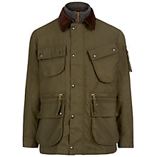 Buy Hackett London Cadwell Wax Jacket, Olive Online at johnlewis.com