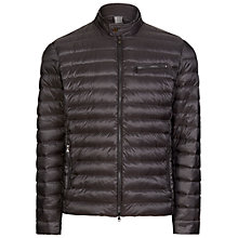 Buy Hackett London Moto Down Jacket, Charcoal Online at johnlewis.com