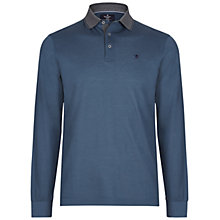 Buy Hackett London Marl Tip Long Sleeve Polo Online at johnlewis.com