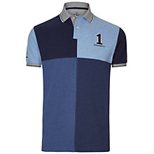 Buy Hackett London Quarter Block Number Jersey Top, Blue Online at johnlewis.com