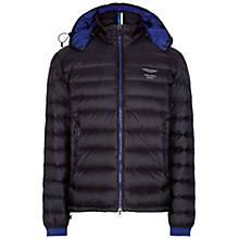 Buy Hackett London Aston Martin Racing Down Jacket, Black Online at johnlewis.com