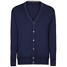 Buy Hackett London Merino Wool Cardigan, Navy Online at johnlewis.com