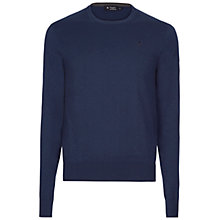 Buy Hackett London Cotton Silk Cashmere Crew Neck Jumper Online at johnlewis.com