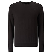 Buy J. Lindeberg Chad Quilted Jumper, Black Online at johnlewis.com
