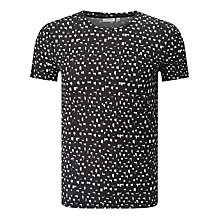 Buy J. Lindeberg Sev Print T-Shirt, Black/White Online at johnlewis.com