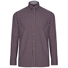 Buy Hackett London Check Shirt, Berry/White Online at johnlewis.com