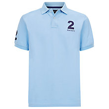 Buy Hackett London Tailored Fit Polo Shirt, Blue/Grey Online at johnlewis.com