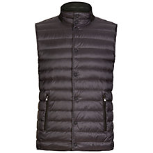 Buy Hackett London Reversible Down Gilet, Grey Online at johnlewis.com