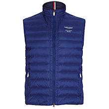 Buy Hackett London Aston Martin Racing Down Gilet, Cobalt Online at johnlewis.com