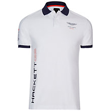 Buy Hackett London Aston Martin Racing Contrast Polo Shirt Online at johnlewis.com