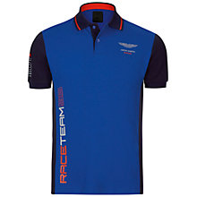 Buy Hackett London Aston Martin Racing Panel Polo Shirt, Bright Blue Online at johnlewis.com