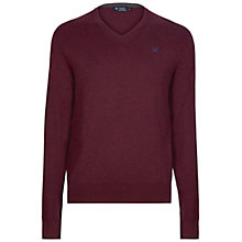 Buy Hackett London Cotton Silk Cashmere V-Neck Jumper Online at johnlewis.com
