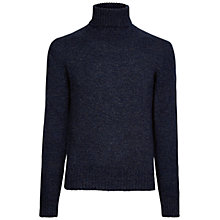 Buy Hackett London Mouline Roll Neck Jumper, Dark Blue Marl Online at johnlewis.com