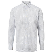 Buy J. Lindeberg Daniel Long Sleeve Mini Print Shirt, White Online at johnlewis.com