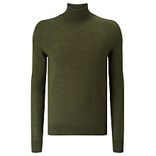 Buy Samsoe & Samsoe Minya Merino Roll Neck Jumper, Forest Night Online at johnlewis.com