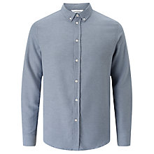 Buy Samsoe & Samsoe Liam Flannel Shirt, Pearl Blue Online at johnlewis.com
