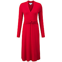 Buy Pure Collection Cambridge Gathered Jersey Dress, Scarlet Online at johnlewis.com