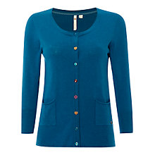Buy White Stuff Nancy Cardigan, Empire Blue Online at johnlewis.com