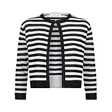Buy Damsel in a dress Stripe Cardigan, Black/White Online at johnlewis.com