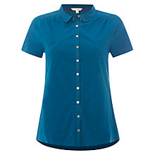 Buy White Stuff Short Sleeve Pearl Jersey Shirt, Empire Green Online at johnlewis.com