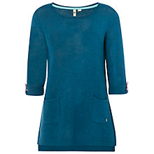 Buy White Stuff Linen Barnie Tunic Jumper, Empire Green Online at johnlewis.com