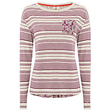 Buy White Stuff Cardamon Knit Top, Royal Purple Online at johnlewis.com