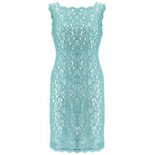 Buy Adrianna Papell Petite Sleeveless Lace Dress, Turquoise/Ivory Online at johnlewis.com