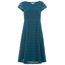 Buy White Stuff Blossom Cutwork Jersey Dress, Teal Online at johnlewis.com