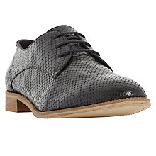 Buy Dune Faris Textured Oxford Shoe, Black Reptile Online at johnlewis.com
