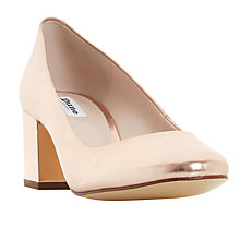 Buy Dune Annalena Block Heel Round Toe Court Shoes Online at johnlewis.com
