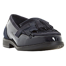 Buy Dune Goodie Fringed Loafers, Navy Online at johnlewis.com