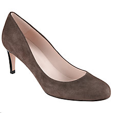 Buy John Lewis Arna Round Toe Court Shoes, Grey Suede Online at johnlewis.com