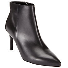 Buy John Lewis Ophelia 2 Pointed Toe Stiletto Ankle Boots, Black Online at johnlewis.com