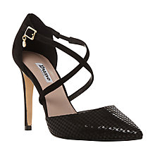 Buy Dune Connie Two Part Pointed Toe Court Shoes, Black Online at johnlewis.com
