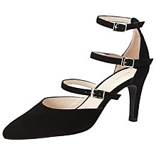 Buy John Lewis Agnes Multi Strap Court Shoes, Black Online at johnlewis.com