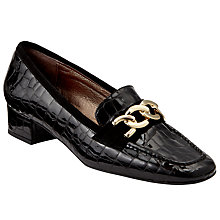 Buy John Lewis Arianna Court Shoes, Black Croc Online at johnlewis.com
