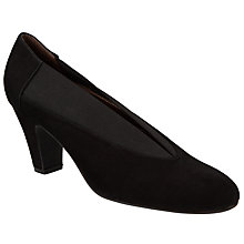Buy John Lewis Alexis Block Heel Court Shoes, Black Online at johnlewis.com
