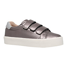 Buy Carvela Lily Leather Sports Shoes, Pewter Online at johnlewis.com