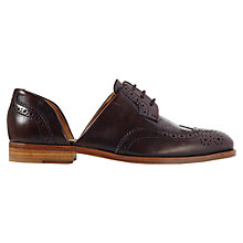 Buy Jigsaw Medina Cut Away Brogues, Brown Online at johnlewis.com