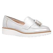 Buy Carvela Limbo Flat Loafer Shoes, Silver Online at johnlewis.com