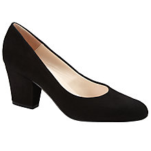 Buy John Lewis Alma Block Heeled Court Shoes, Black Online at johnlewis.com