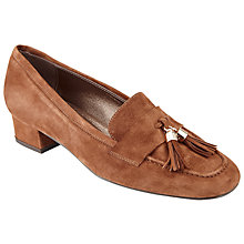 Buy John Lewis Anna Tassel Block Heeled Loafers, Tan Online at johnlewis.com