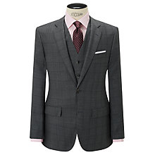 Buy Hackett London Super 120s Wool Prince of Wales Check Chelsea Regular Fit Suit Jacket, Mid Grey Online at johnlewis.com