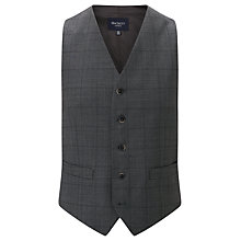 Buy Hackett London Super 120s Wool Prince of Wales Check Chelsea Regular Fit Waistcoat, Mid Grey Online at johnlewis.com