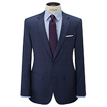 Buy Hackett London Super 110s Wool Windowpane Check Chelsea Regular Fit Suit Jacket, Cornflower Online at johnlewis.com