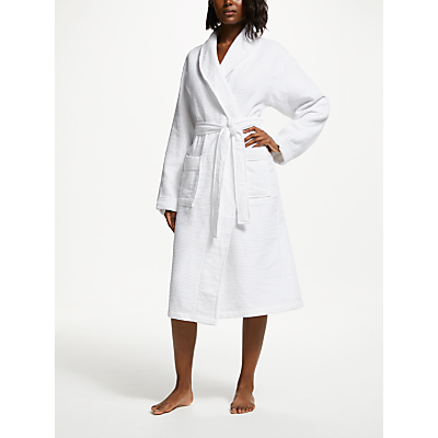 John Lewis Croft Collection Waffle Bath Robe