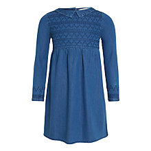 Buy John Lewis Girls' Denim Dress, Blue Online at johnlewis.com