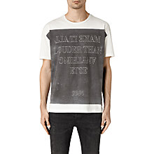Buy AllSaints Loud Short Sleeve T-Shirt, Chalk White Online at johnlewis.com